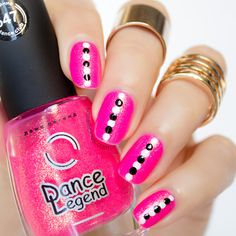 Cute Pink Nails - Tutorial here: http://sonailicious.com/easy-dotticure-tutorial/