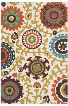 Safavieh Cedar Brook CDR144A Ivory Rug | Contemporary Rugs #RugsUSA