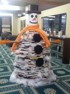 Book Snowman: Buena Vista University Library