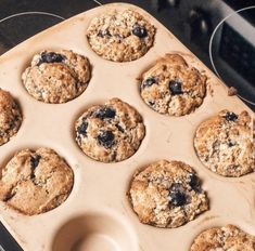 1-2 lemons, zested 1C coconut milk 1 1/2C GF flour 2/3 C Arbonne vanilla protein 2tsp bak. powder Dash of salt 2 extra ripe bananas 2tbsp melted coconut oil 1tsp vanilla 2tbsp poppy seeds fresh/frozen blueberries zest lemons/set aside zest, juice lemons & mix w/ 1/2C coconut milk (it will curdle, this is okay), mix dry ingred. together, mix all wet ingred. in diff bowl, w/ zest, fold wet into dry, stirring minimally to keep muffins light/fluffy, gently fold bloobs in, bake 350degrees for… Vanilla Protein Recipes, Frozen Blueberries, Protein Foods, Arbonne, Coconut Milk, Blueberry, Banana, Desserts, High Protein Foods