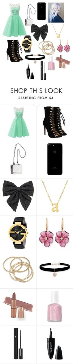 """""""Untitled #216"""" by liyah2314 ❤ liked on Polyvore featuring Kendall + Kylie, ASAP, Carole, Jane Basch, Gucci, Rina Limor, ABS by Allen Schwartz, Betsey Johnson, Essie and Lancôme"""
