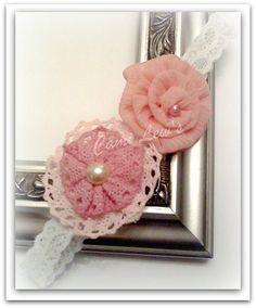 Chic fabric flower headband