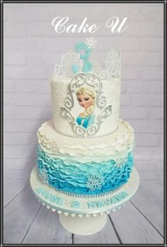 Frozen cake figures will be provided by customer Claires