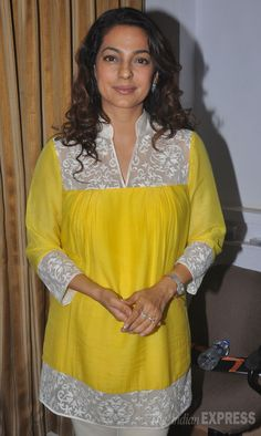 Juhi Chawla seen at a discussion on radiation at the Press Club of Mumbai. #Bollywood #Fashion #Style #Beauty