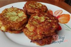 Pin on Recepty Zucchini Puffer, Tandoori Chicken, Cauliflower, Pizza, Vegetables, Cooking, Breakfast, Ethnic Recipes, Food