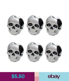 Parts & Accessories 6Pcs Skull Shape Electric Guitar Tuning Peg Button Tuner Machine Head Silver #ebay #Lifestyle
