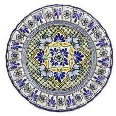 "Novica Talavera 12"" Ceramic Floral Plate"