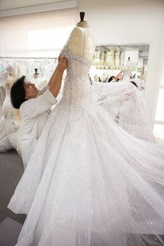 Haute Couture - a beautiful gown in the making - fashion atelier; dressmaking; fashion design behind the scenes // Elie Saab