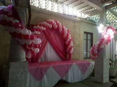 Sweet 16 or Quincenera Balloon Decor