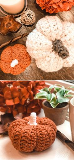 Fun Autumnal Colorful Crochet Pumpkins. These fun plumpy pumpkins are super easy to crochet and they will make the ultimate decor for your house. Fall is the best time to take your decorations to the next level and enjoy how beautiful they are! In addition to a written pattern, you can also go for a video tutorial. #freecrochetpattern #fall #pumpkin
