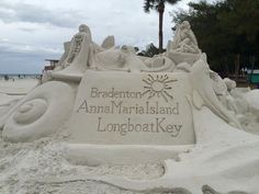 Local sand sculpting contest and symphony in the sand concert last night. Family Vacation Destinations, Florida Vacation, Stuff To Do, Things To Do, Anna Maria Island, I Love The Beach, Pack Your Bags, White Sand Beach, Mount Rushmore
