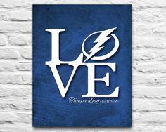 Tampa Bay Lightning hockey florida inspired ART PRINTABLE diy, L-o-v-e, wedding, christmas, birthday gift Room Wall Decor, 8x10 11x14 by ParodyArtPrints on Etsy https://www.etsy.com/listing/233475188/tampa-bay-lightning-hockey-florida