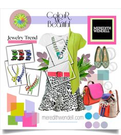 """""""Color Theory With Meredith Wendell"""" by pattykake ❤ liked on Polyvore"""