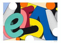 Legilet poster typography