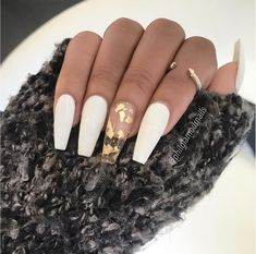 55 Attractive and Simple Winter Acrylic Coffin Nails To End This Holiday Season . - 55 Attractive and Simple Winter Acrylic Coffin Nails To Try This Holiday Season – Page 5 of 55 – Chic Hostess- # Acrylic time Clear Acrylic Nails, Simple Acrylic Nails, Simple Nails, Pastel Nails, Aycrlic Nails, New Year's Nails, Gold Nails, Prom Nails, Manicure