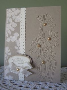 noted the Stampin up Sizzix Textured Impressions Flower Garden Embossing folder