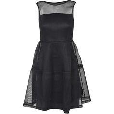 Larah Lantern Net Dress ($44) ❤ liked on Polyvore featuring dresses, netted dress and net dress