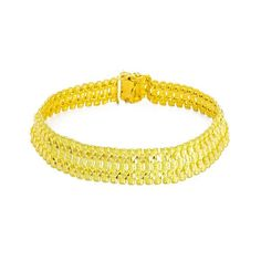 Gold Chains For Men - Yellow Gold Bracelet W/ Double Row Cutout Chain 1 Gram Gold Jewellery, Mens Gold Jewelry, Gold Jewellery Design, Bracelets For Men, Beaded Bracelets, Gold Chains For Men, Quartz Jewelry, Discount Jewelry, Bracelet Making