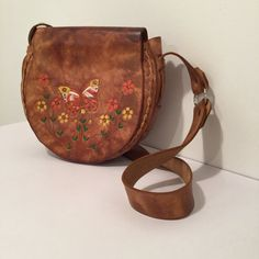 Vintage 1970s Unique Boho Hand Tooled Leather by MyVintagePoint