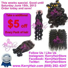 This week special @Kerry Hair. #savemore