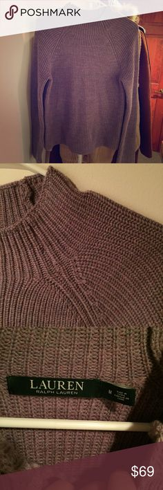 Ralph Lauren mixed purple sweater Size M. Very unique color. The real color is more like the priest pic. Just worn once. Ralph Lauren Sweaters