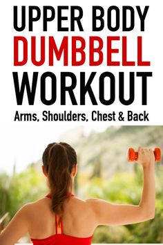 Upper body dumbbell workout Upper Body Dumbbell Workout for Wom. Upper body dumbbell workout Upper Body Dumbbell Workout for Women - works shoulders, arms, chest, and back. This is a great workout to do at home or the gym! Weights Workout For Women, Upper Body Workout For Women, Workout Plan For Women, Workout Plans, Workout Women, Free Weight Workout, Weight Loss Workout Plan, Weight Training, Weight Workouts