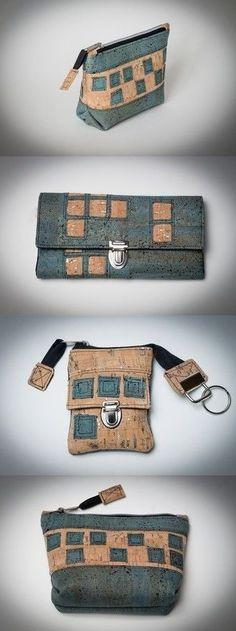 Set aus Korkstoff für die Handtasche - Idee in der Werkschau auf Makerist.de