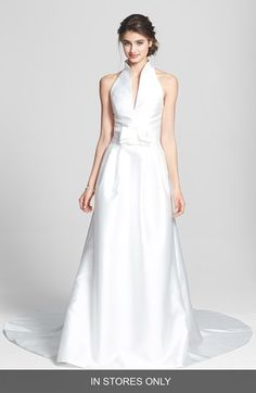 Justin alexander bridal wedding dress collection spring 2019 jesus peiro jess peir martina mikado halter dress in stores only available junglespirit Images