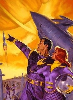 the future is purple space suits