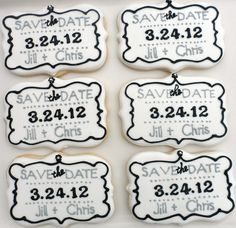 Save the Date Cookies ~ favors for an  engagement party