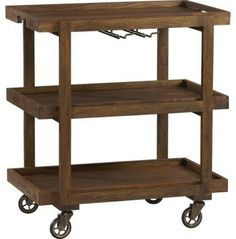 Rustic Bar Cart | Guest Picks: Adorn Your Kitchen With Rustic Wooden Charm