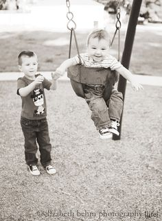 Super cute picture! ;) i took one just like it of my son and his brother... It is now framed and hung up in his room!
