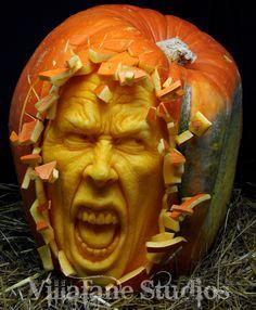 incredible work of master pumpkin carver, Ray Villafane