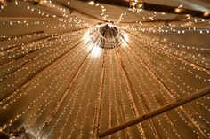 Pea lights in a Tipi roof. Tipi Wedding, Rustic Wedding, Wedding Venues, Marquee Decoration, Wedding Lighting, Interior Lighting, Oscars, Ceiling Lights, Boho
