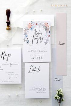Janessa Wedding Invitation Sets, Printable Wedding Invitations or Printed Wedding Invitation Sets, Weddings, Grey, Beach Wedding