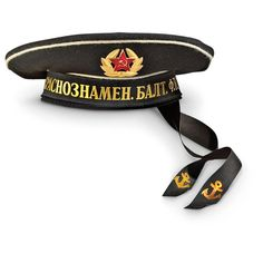Sportsman's Guide has your New Russian Military Surplus Sailor's Hat, Black available at a great price in our Military Hats & Caps collection Military Cap, Military Surplus, Russian Fonts, Headgear, Caps Hats, Captain Hat, Army, Sailors, Black