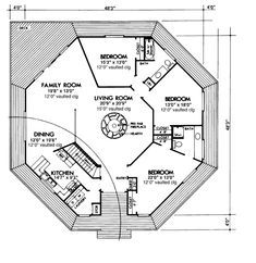 First Floor Plan of House Plan 57422