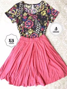 LuLaRoe Rose Outfit S Classic Tee XS Madison Skirt   Lindsay Gonzalez's Boutique   Shoppe