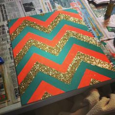 Chevron canvas