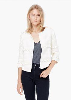 Cotton embroidered jacket -  Women   MANGO