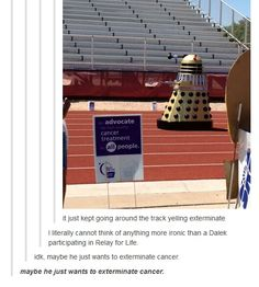 Maybe he just wants to exterminate the misconception that all Daleks want to exterminate people! We don't know it, or it's motives!