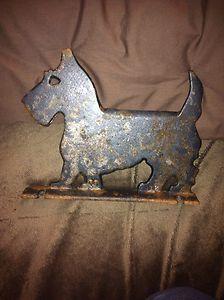 Antique Vintage Metal Cast Iron Scottish Terrier Dog Boot Scraper Door Stop | eBay