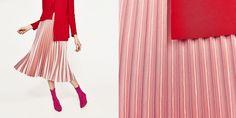 La gonna plissettata rosa di Zara è la nuova ossessione-passione di tutte le fashion lover