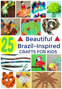 With the 2016 Summer Olympics taking place in Brazil, my kids are super excited to know everything there is to know about Rio, the Andes, and all things South America! If your kids are just as excited, these 25 Beautiful Brazil-Inspired Crafts For Kids are perfect for you. From rainforests, to sports, to animals, and even carnival, Brazil is a cornucopia of color, and majesty! These colorful and amazing crafts are going to keep you and the kiddo's inspired for hours, and let you learn about