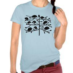 Camiseta pájaros #zazzleespaña #verano #camisetas