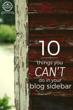 Are you driving people away because your blog sidebar sucks? Discover 10 things you need to stop doing in your sidebar.