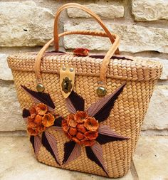 Vintage Straw Purse  Lovely 1950s Large Straw by abbeysaccessories, $48.00