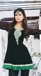 Show details for Black and Green Kurti