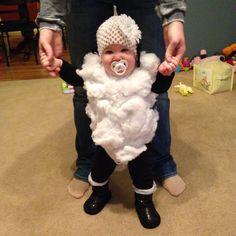 Baby lamb costume. DIY
