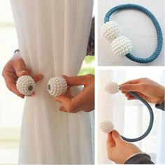 Pearl Magnetic Curtain Clip Curtain Holders Tieback Buckle Clips Hanging Ball Buckle Tie Back Curtain Accessories Home Decor Curtain Holder, Curtain Clips, Curtain Tie Backs, Curtain Accessories, Decorative Accessories, Magnetic Curtain, Gold Light, Pearl Color, Home Textile